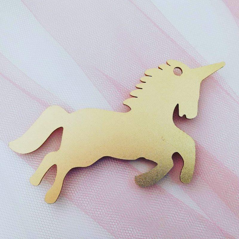 metal gold unicorn